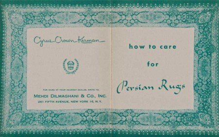 Booklet How to Care for Persian Rugs