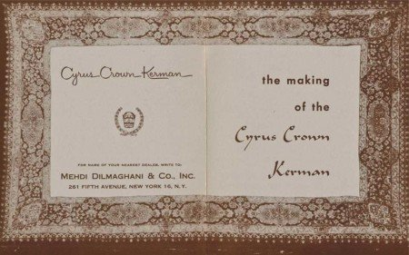 Booklet the Making of the Cyrus Crown Kerman